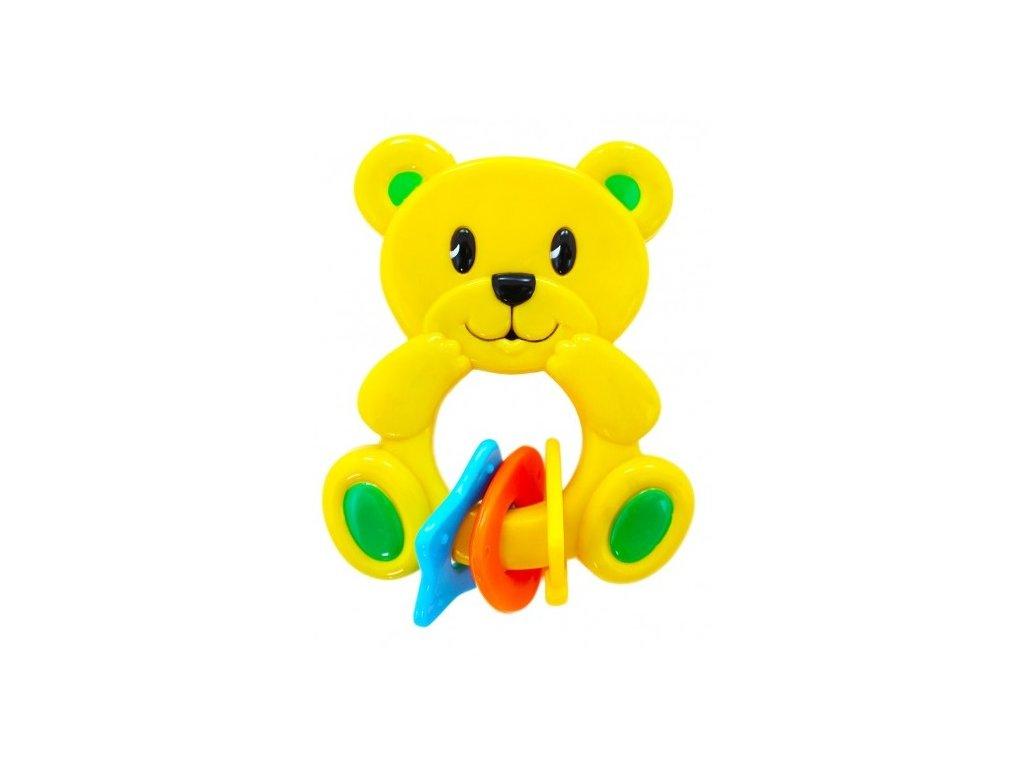 Rappa hrkálka Medveď New žltý