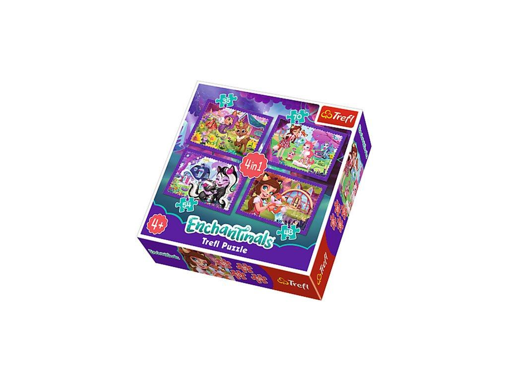 Trefl puzzle Enchantimals 4v1 sada