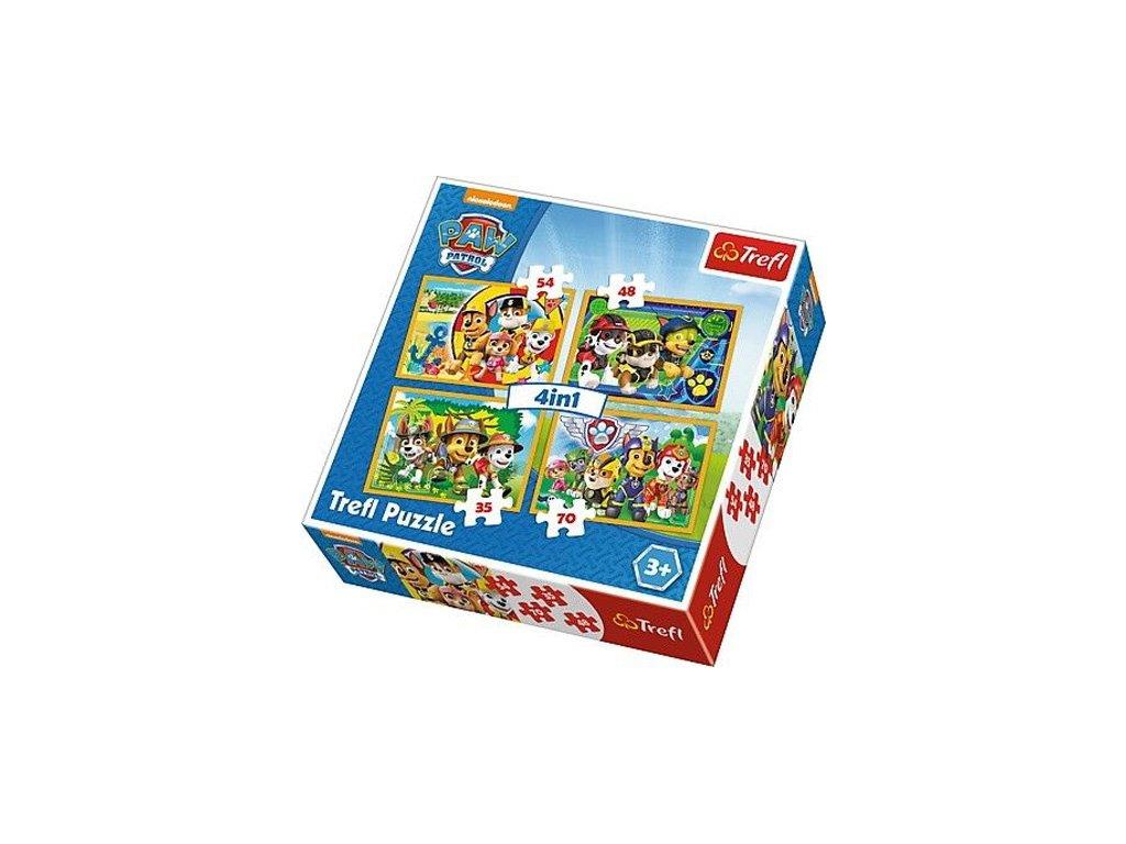 Trefl puzzle Labková patrola 4v1 sada