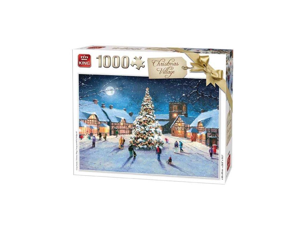 King puzzle Vianoce na dedine 1000 dielikov