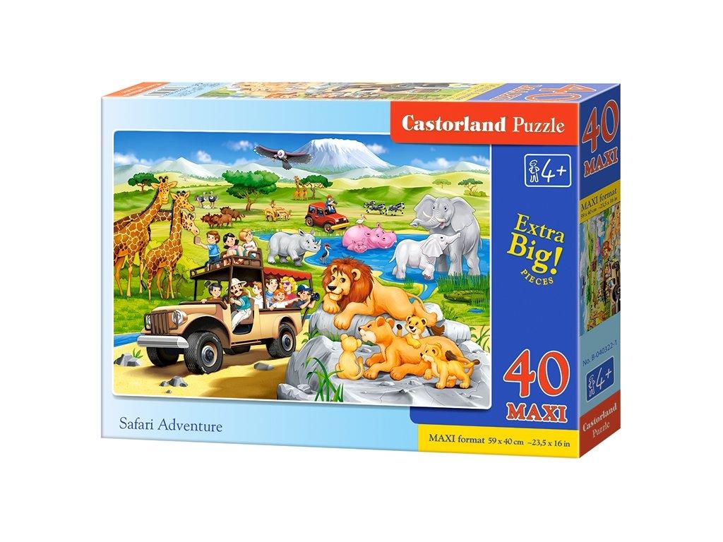 Castorland MAXI puzzle Safari Adventure 40 dielikov