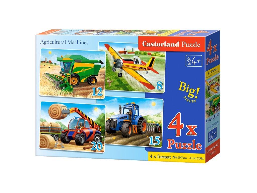 Castorland puzzle Poľnohospodárske stroje 8+12+15+20 dielikov