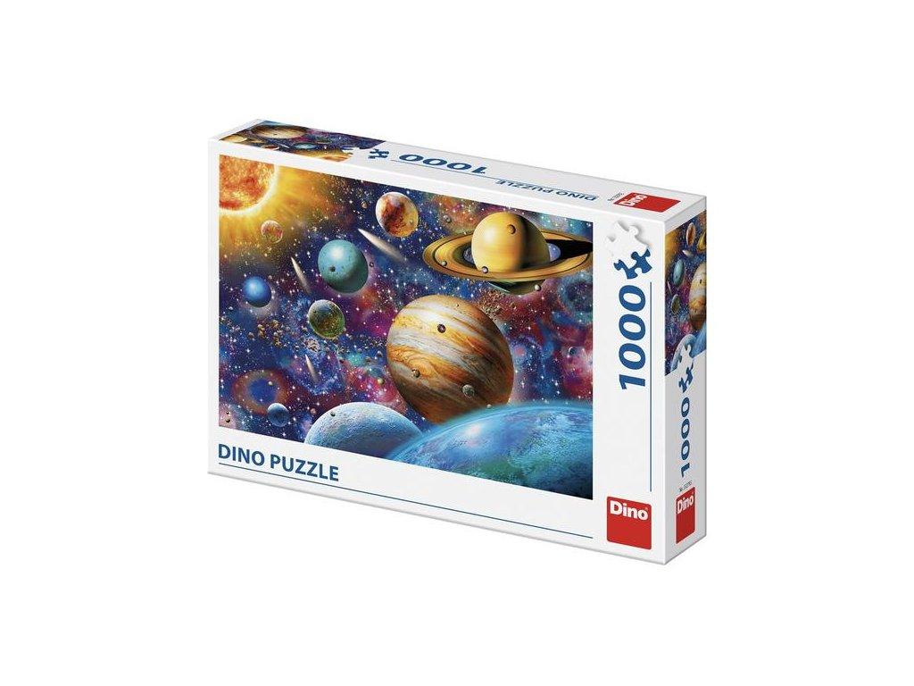 Dino puzzle Planéty 1000 dielikov