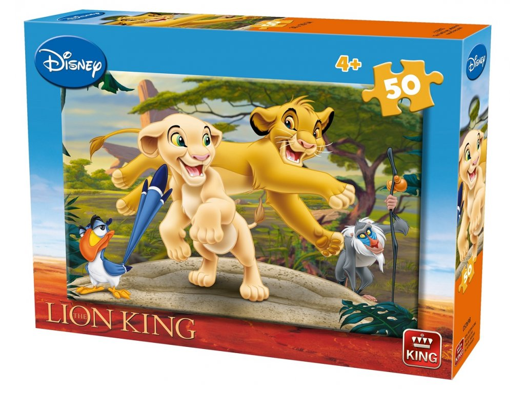 King puzzle Simba a Nala 50 dielikov