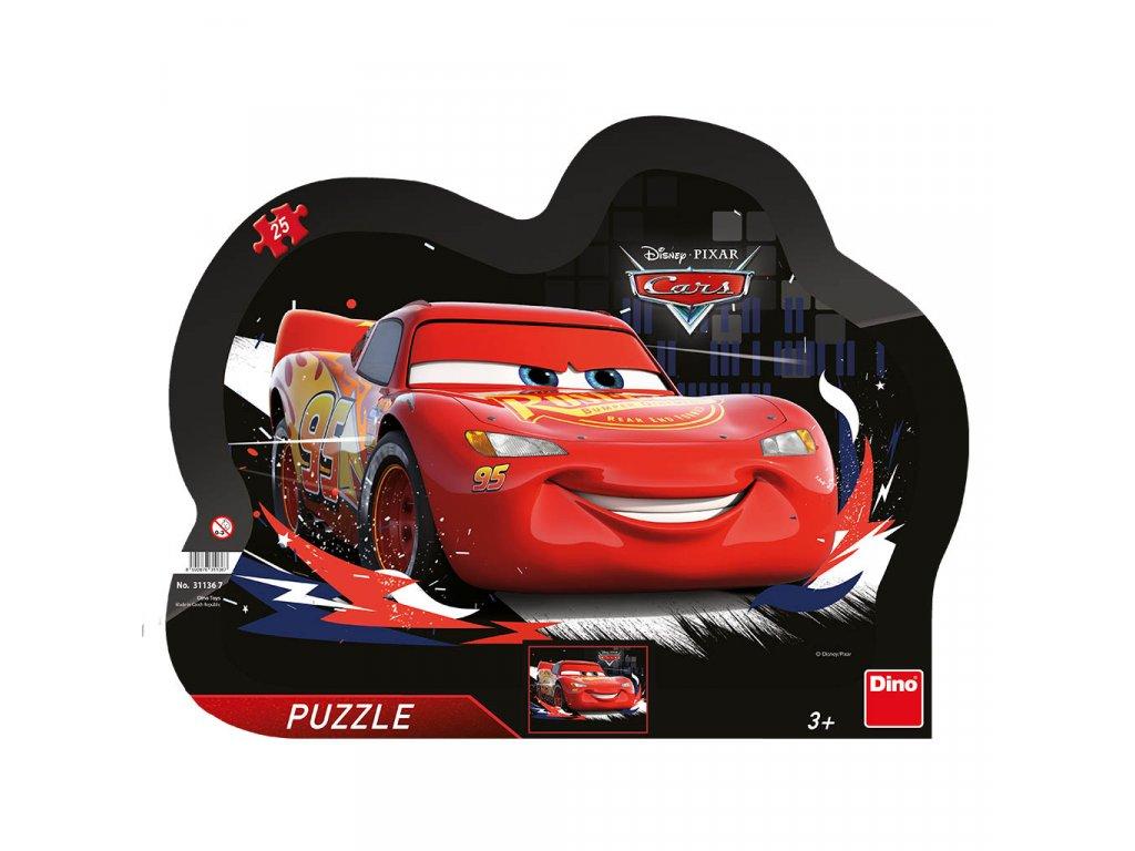 Dino puzzle Blesk McQueen kontúra 25 dielikov