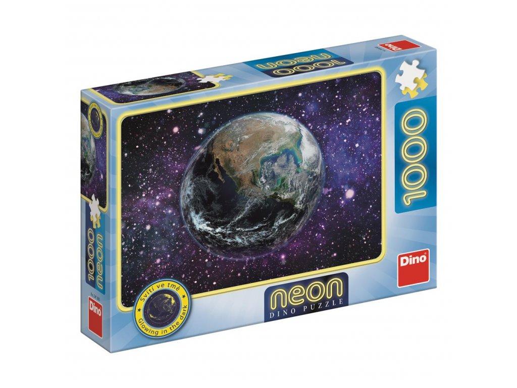 Dino Puzzle Planéta Zem 1000 dielikov Neon
