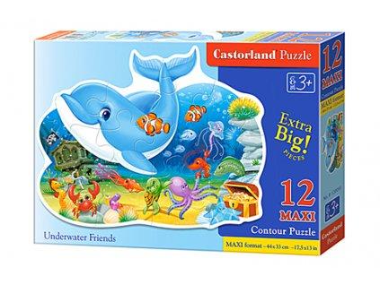 Castorland detské Maxi Puzzle Morskí priatelia 12 dielikov