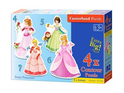 Castorland detské Maxi puzzle Princezné 4v1 sada