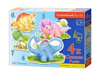 Castorland detské Maxi puzzle Malí Dinosaury 4v1 sada