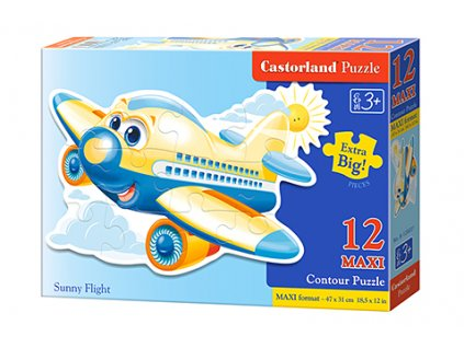 Castorland detské Maxi puzzle Lietadlo 12 dielikov