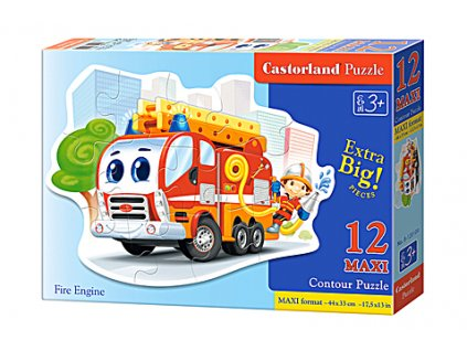 Castorland detské Maxi Puzzle Hasičské auto 12 dielikov
