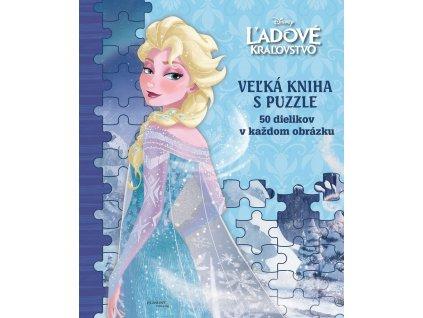 Ľadové kráľovstvo - veľká kniha s puzzle