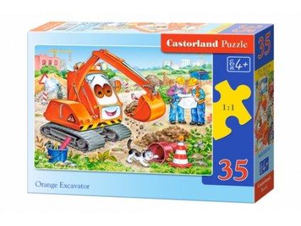 Castorland detské puzzle Oranžový bager 35 dielikov