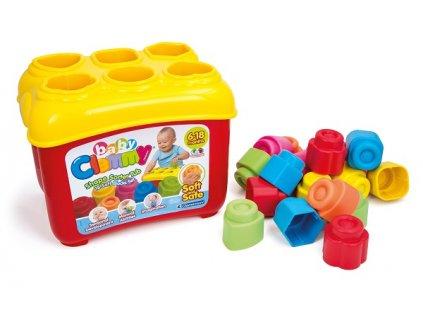 Clementoni Clemmy baby Prestrkávacie vedierko s 18 kockami