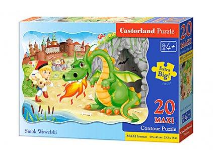 Castorland detské Maxi puzzle Drak Wawelský 20 dielikov