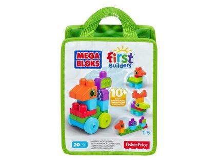 Mega Bloks First Builders Zvieratká 20 ks