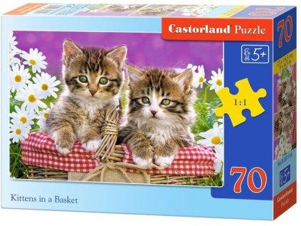 Castorland detské puzzle Mačiatka 70 dielikov