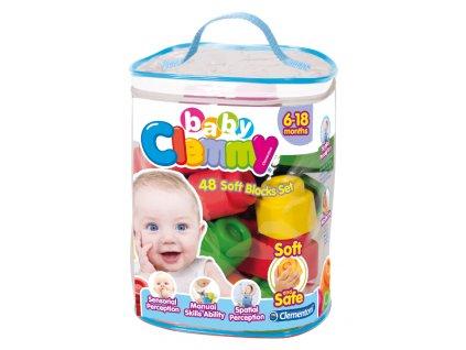 Clementoni Clemmy  Baby 48 kociek v plastovom vrecúšku