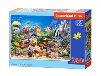 Castorland puzzle Farby oceána 260 dielikov