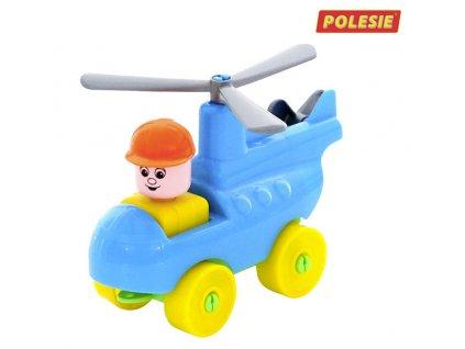 Polesie Staviteľ - Mladý cestovateľ 11ks (modrý vrtuľník)