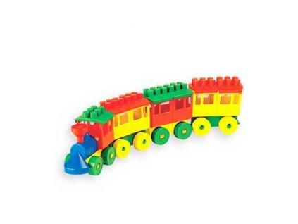Polesie Staviteľ - Vláčik (3 vagóny)