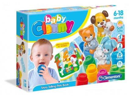 Clementoni Clemmy Baby - Domáce Zvieratká - s knižkou