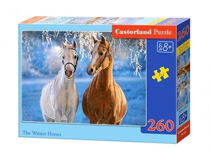 Castorland puzzle Kone v zime 260 dielikov
