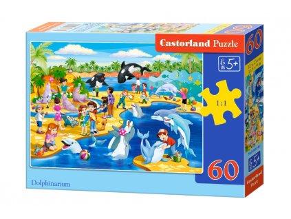 Castorland detské puzzle Delfinárium 60 dielikov