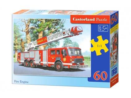 Castorland detské puzzle Hasičské auto 60 dielikov