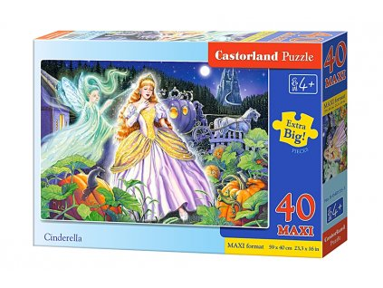 Castorland detské puzzle Popoluška 40 dielikov