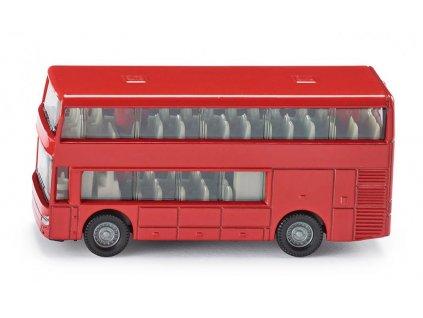 Červený poschodový autobus - Siku 1321