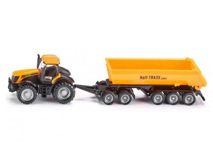 Siku 1858 Traktor JCB so sklápacím prívesom 1:87