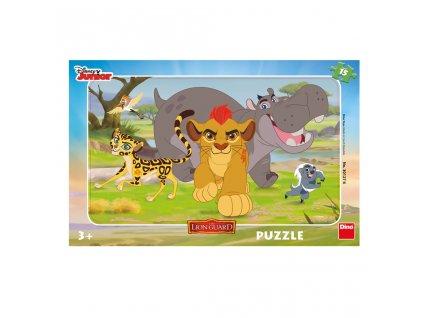 Dino Doskové puzzle Levia hliadka 15 dielikov