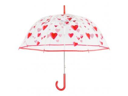 Dámsky palicový dáždnik srdcia 89 cm