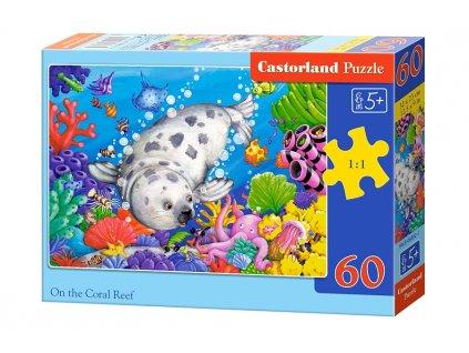 Castorland detské puzzle Koralový útes 60 dielikov