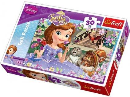 Trefl detské puzzle Sofia Prvá s priateľmi 30 dielikov