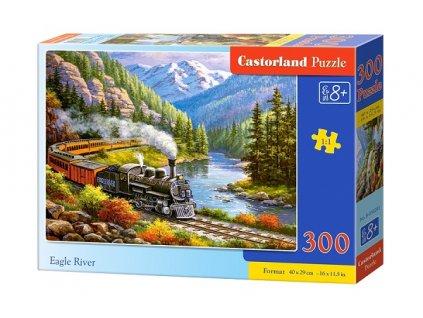 Castorland detské puzzle Eagle River 300 dielikov