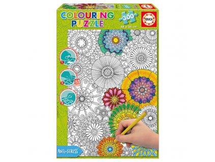 Educa Beautiful Blossoms Colouring puzzle 300 dielikov