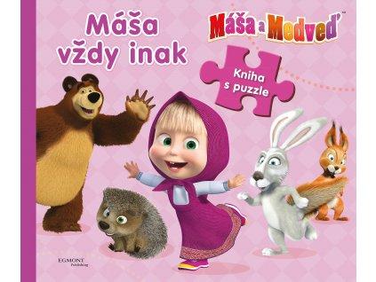 Máša vždy inak - Kniha s puzzle