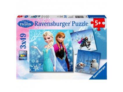 Ravensburger puzzle Frozen 3 x 49 dielikov