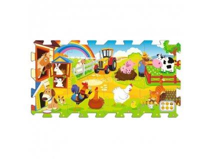 Trefl penové puzzle na podlahu - Farma 8 dielikov
