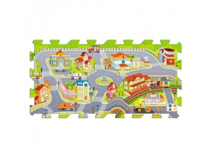 Trefl penové puzzle na podlahu - Mesto 8 dielikov