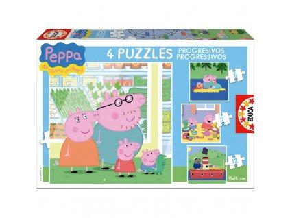 Educa Progressive Puzzle Peppa Pig 4v1