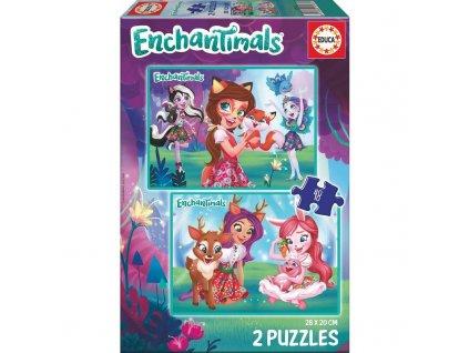 Educa puzzle Enchantimals 2x48 dielikov