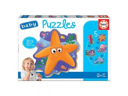 Educa Baby Puzzle Morské Zvieratká 5v1