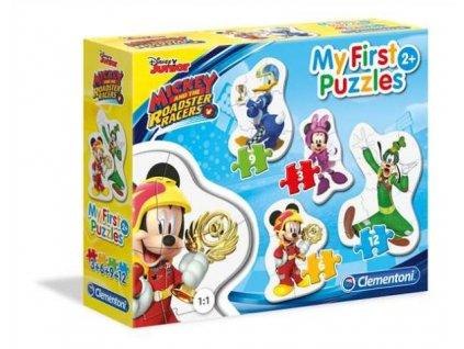 Clementoni My First Puzzles - Mickey A Závodníci 4v1