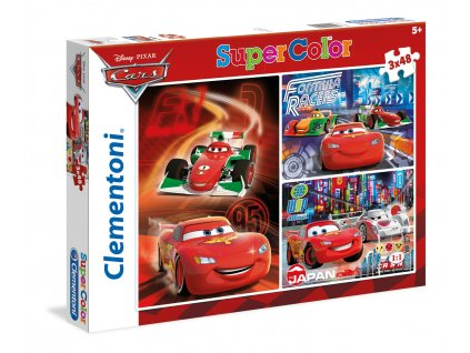 Clementoni puzzle Autá 2 sada 3 x 48 dielikov
