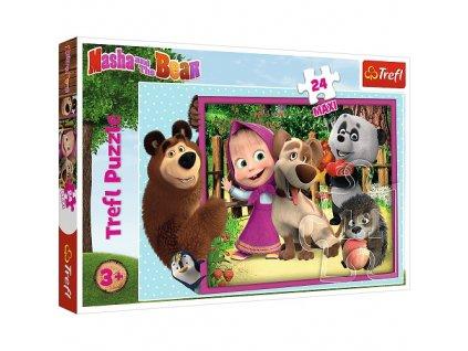 Trefl Maxi puzzle Máša a Medveď 24 dielikov