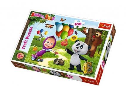 Trefl puzzle Máša a Medveď 100 dielikov