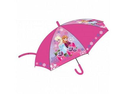 Detský dáždnik Anna a Elsa 75 cm ružový